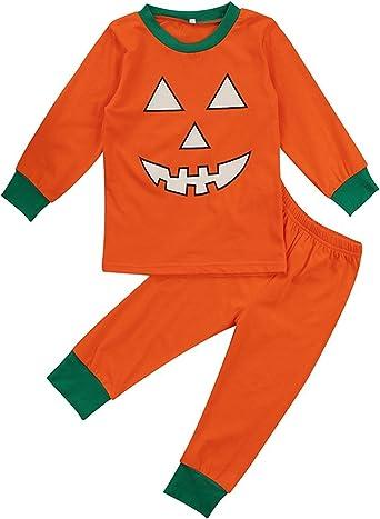 Baby Boy Long Sleeve Jumpsuit Pumpkin Halloween Kid Pajamas