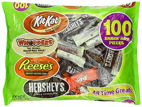 HERSHEY'S Halloween All Time Greats Snack Size Assortment, 36.22 Ounce -
