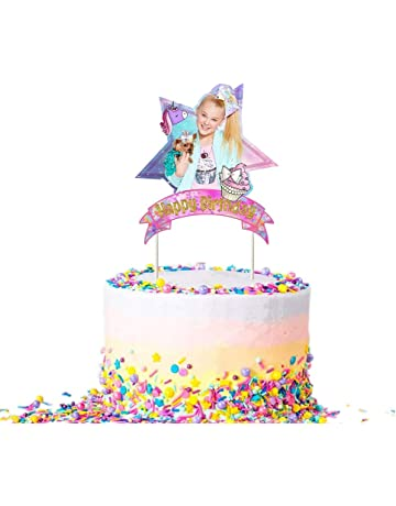 Jojo Unicorn Bow Cake Topper Birthday Party Decoration Toppers