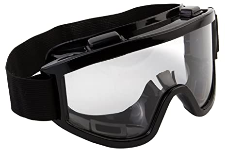 7e3fb2abe17 Buy 7Trees Adult Motorbike ATV   Dirt Bike Racing Transparent Goggles With  Adjustable Strap - Black Online at Low Prices in India - Amazon.in