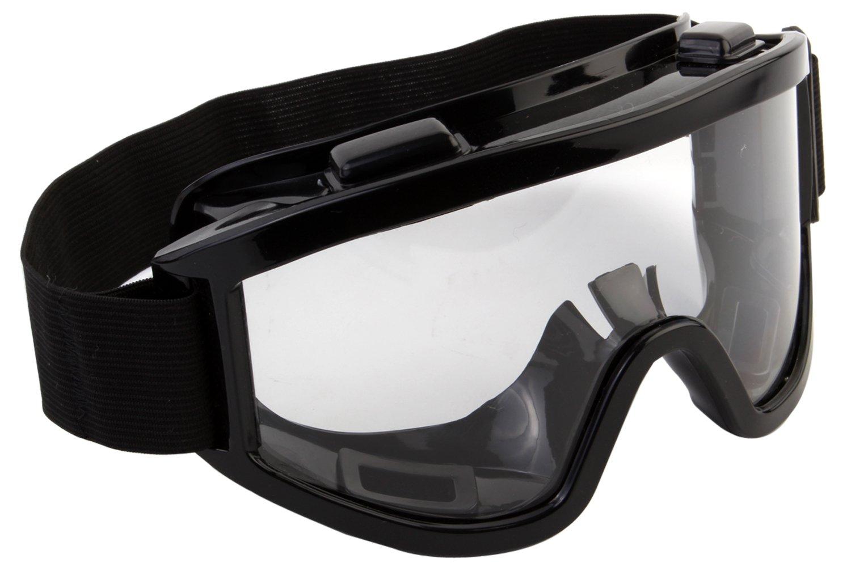 7Trees Adult Motorbike ATV / Dirt Bike Racing Transparent Goggles With Adjustable Strap - Black product image