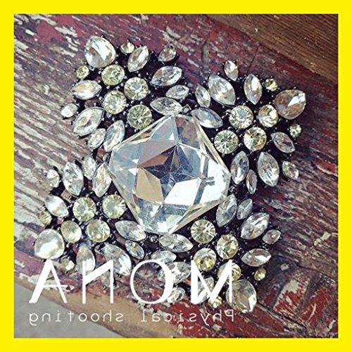 - TKHNE diamond diamond crystal brooch pin badge vintage brooch pin badge funky modern retro jewelry