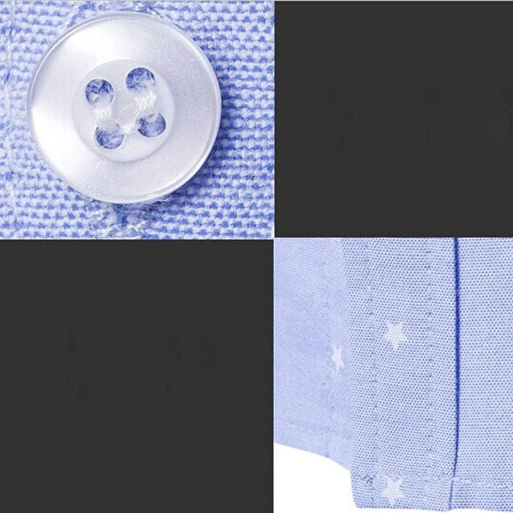 Paixpays Mens Small DotsSpread Collar Long Sleeve Dress Shirt