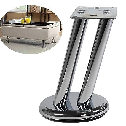 Amazon.com: 6 inch Furniture Legs Metal Chrome Sofa Legs Set of 4 ...