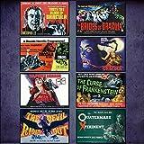Hammer Horror Film Poster Fridge Magnets - Set of 8 large fridge magnets No.1