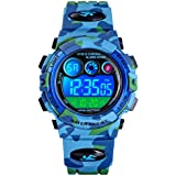 PASNEW Kids Watch, Multi-Function Waterproof Sport Camouflage Watch Colorful LED Backlight Personality Electronic Watches,Sui
