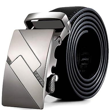 3ea1c64b6 Vovotrade Los hombres de cuero automatico Moda Correa de la cintura cintura  cinturon de hebilla de cinturones: Amazon.es: Ropa y accesorios