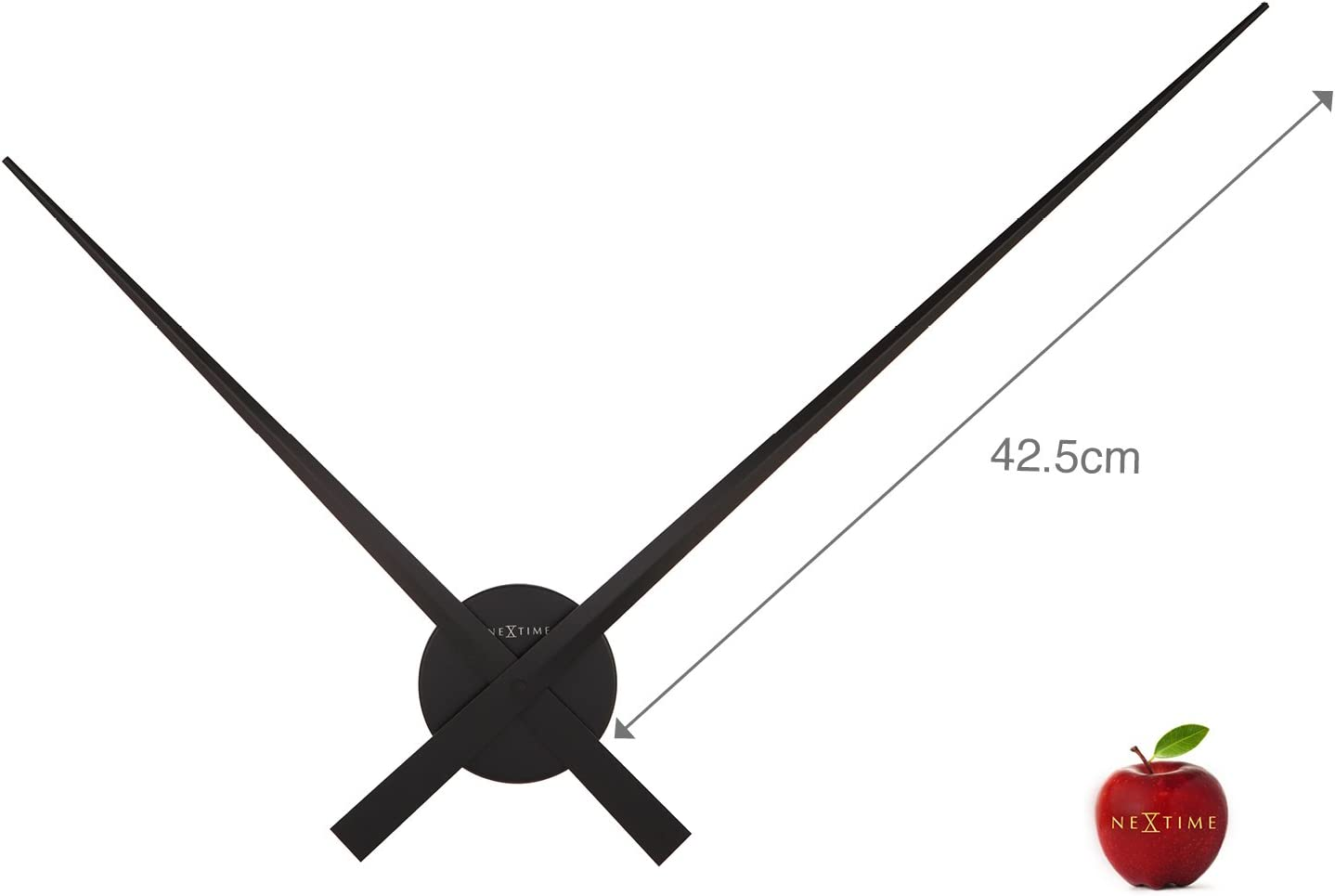 Abbott Collection Home Hands Only Wall Clock 34 Inch Black Amazon Ca Home Kitchen