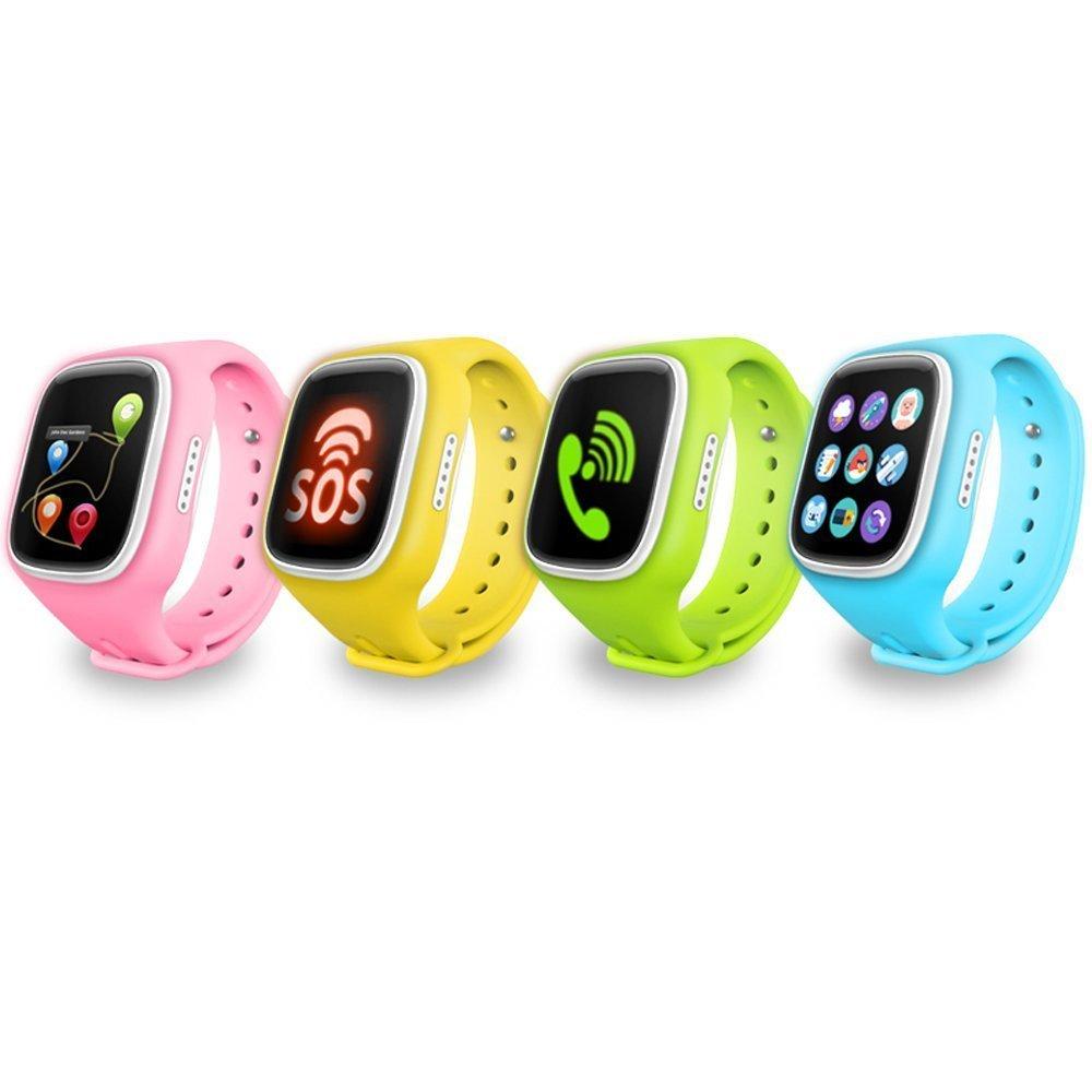 turnmeon pantalla táctil reloj inteligente para niños niños Smartwatch teléfono con GPS Tracker anti-lost SOS pulsera de muñeca para control de ...