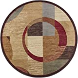 Universal Rugs Kelsey Contemporary Geometric Multi-Color Round Area Rug, 5′ Round For Sale
