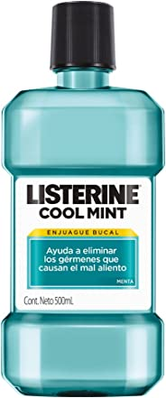 Listerine Enjuague Bucal Cool Mint, 500ml