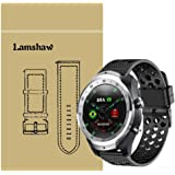 for TicWatch Pro Band, Lamshaw Silicone Replacement Wristbands Sport Strap with Metal Buckle for TicWatch Pro Bluetooth Smart Watch (Black)
