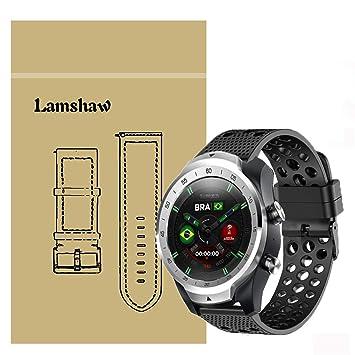 Ceston Clásico Deporte Silicona Correas para Smartwatch TicWatch Pro (Negro)