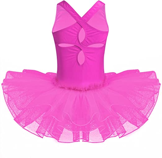 iiniim Kids Girls Sequined Ballet Dance Tutu Dress Gymnastic Leotard Skirt Ballerina Dancing Costumes
