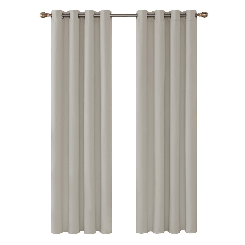 Deconovo Blickdicht Gardinen mit Ösen für Schlafzimmer Thermogardinen Vorhang Blickdicht 245×140 cm Dunkelgrau 2er Set B01LZDZYO8 Vorhnge