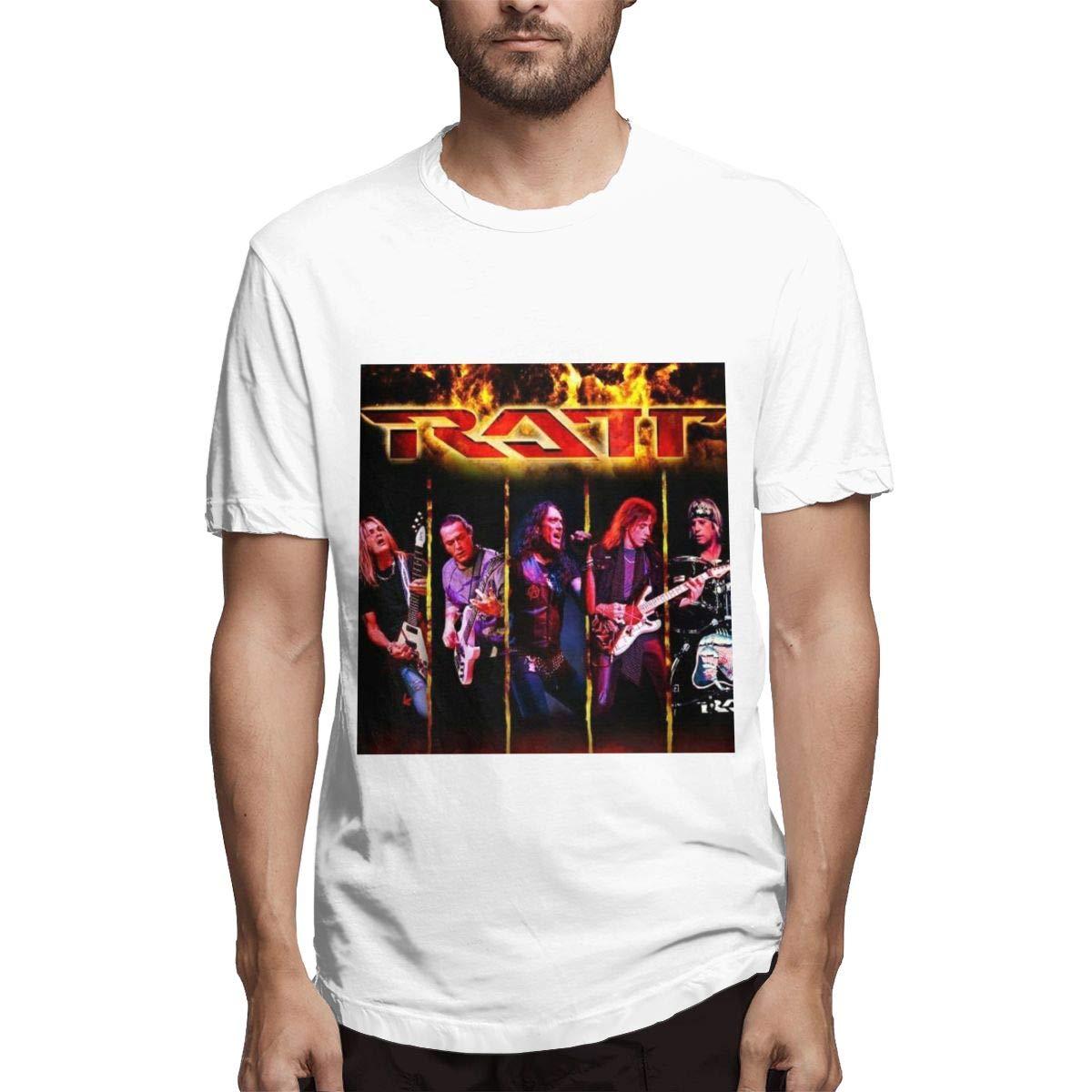 Lihehen S Ratt Band Retro Printing Round Neck Ts Shirts