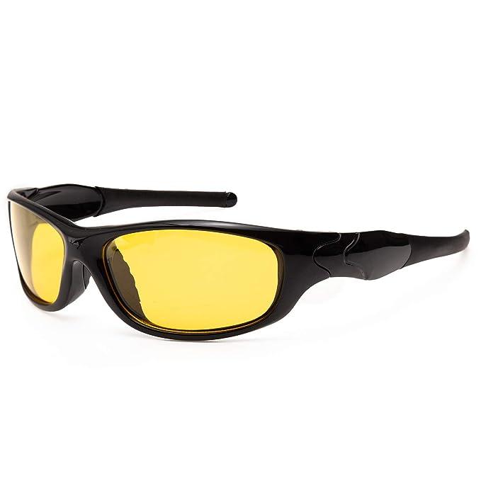 JOGVELO Gafas de Sol Deportivas, Gafas de Sol Polarizadas Hombre Mujer UV400 TR90 para Esquiar Correr Conducir Ciclismo, Amarillo: Amazon.es: Ropa y ...
