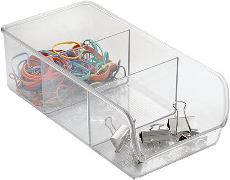InterDesign Linus Schrank Organizer durchsichtig mittelgro/ßer Drehteller mit 5 F/ächern aus Kunststoff