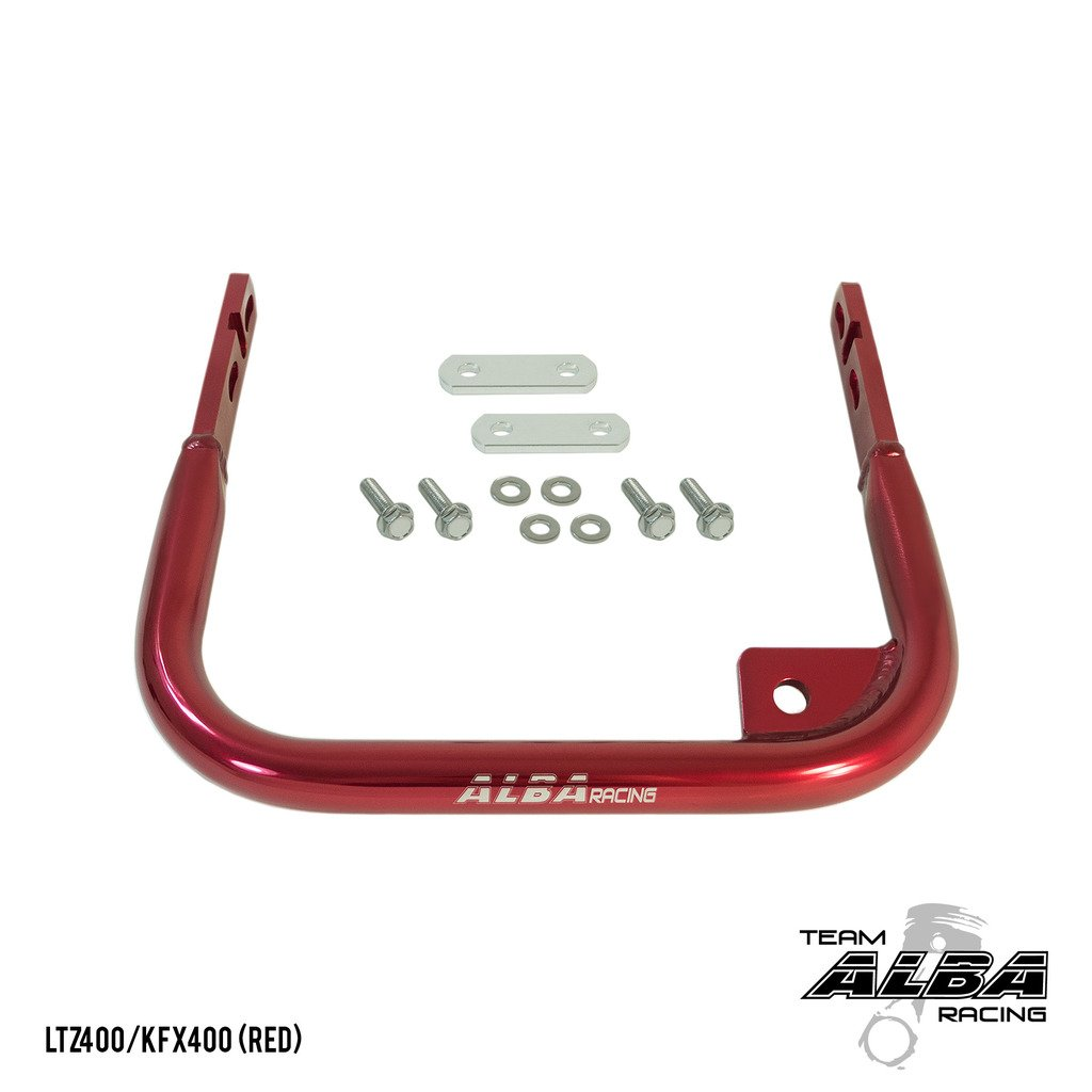 Suzuki LTZ 400 (2004-2008) ATV Rear Grab Bar Bumper (Red) Alba Racing