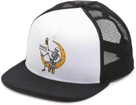 Vans Off The Wall Mens Norris Trucker Hat Cap - White/Black ...