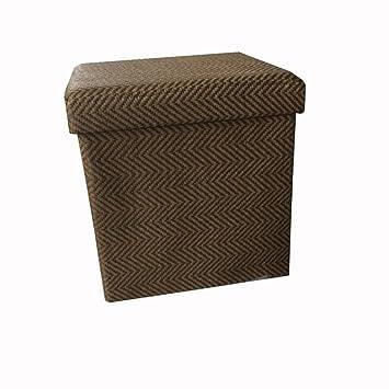 Nclon Rota Otomanas Otomanas Cambio de taburete de zapatos,Plegable Taburete del sofá Caja de