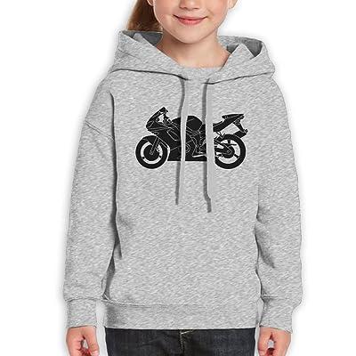 DIMANNU Teenager Pullover Sweatshirt Hoodie Cotton Motorcycle Printed for Boys Girls