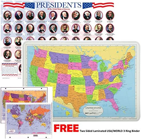 Painless Learning Educational Placemats Presidents product image