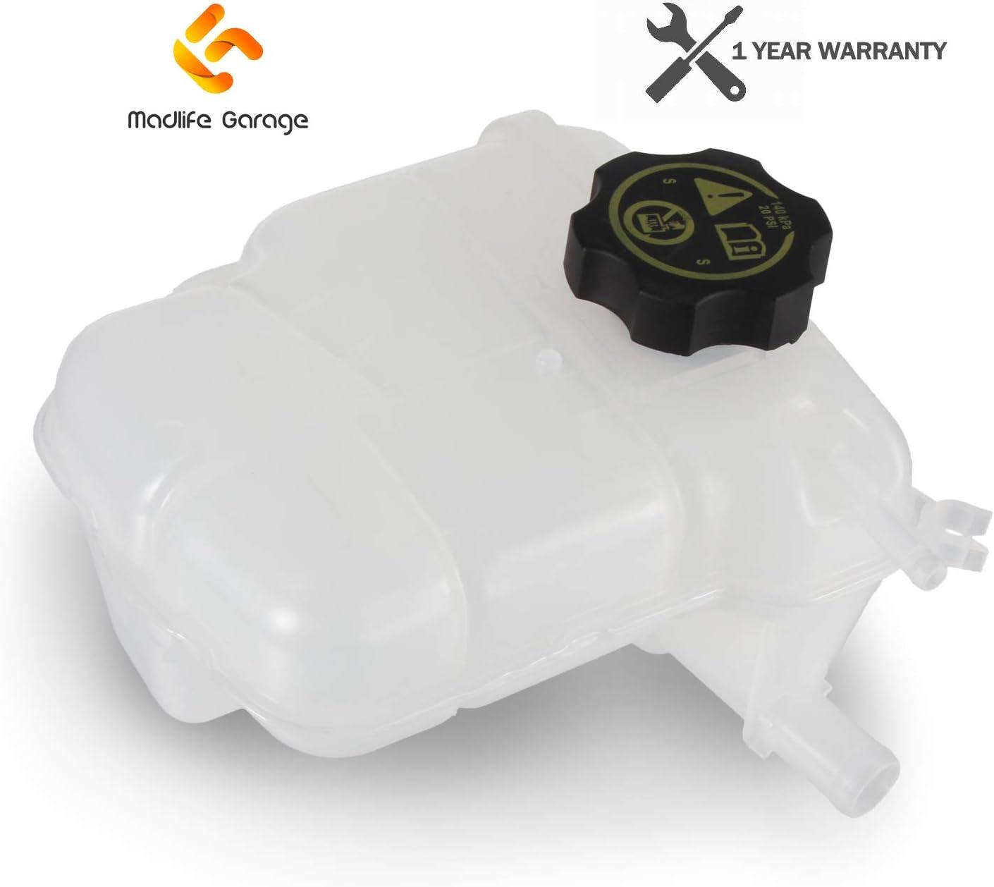 Madlife Garage Expansion Coolant Reservoir Bottle//Header Tank 13393368 For 2009-2019 Astra MK6 1.4 1.6 2.0