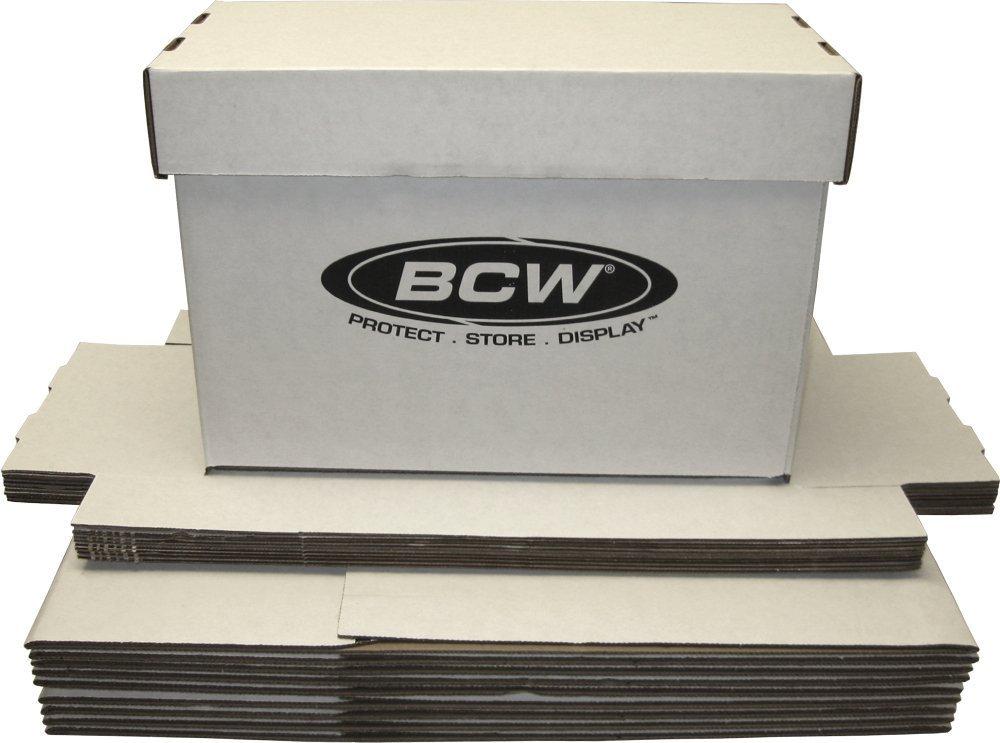 (10) BCW Brand SHORT Comic Storage Box - Holds 150 - 175 Comic Books - CXBCSHORT 3-Pack