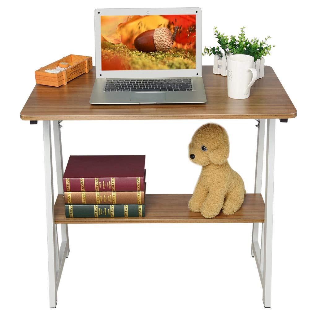 Sofa Table Solid Color Laptop Desk, Staron Home Simple Desk with Shelf Sofa Tables Laptop Computer Desk (Brown❤️) by Staron