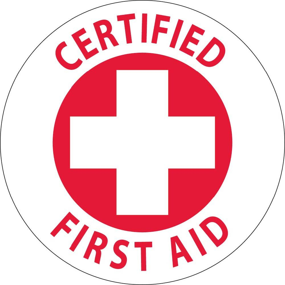 HH35 Certified First Aid Hard Hat Emblem National Marker Corp