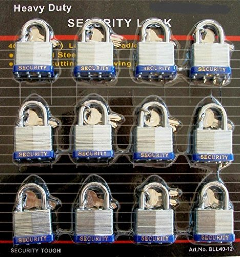 [40 mm Padlock - 12 pc keyed alike - 1-1/2