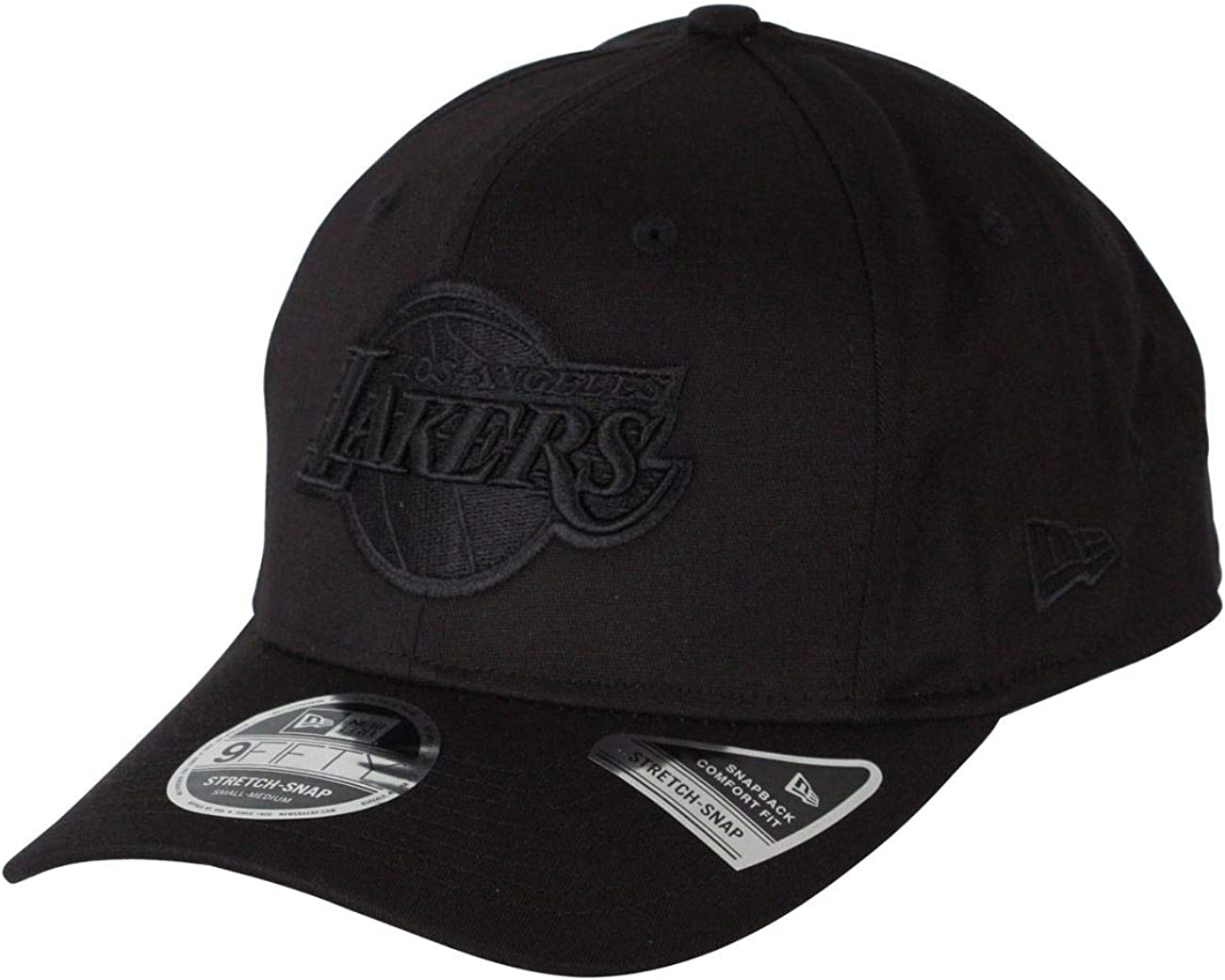 New Era Casquette Tonal Black 9Fifty Stretch Snapback ~ LA Lakers