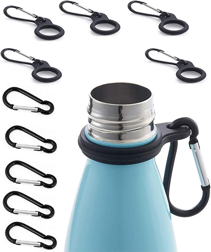Hiking Camping Travel Water Bottle Buckle Outdoor Carabiner Holder M4F7 Bot P7O5