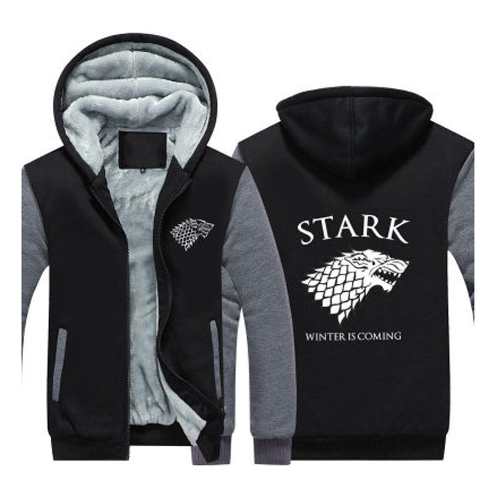 House Stark Winter Winter Winter is coming Zip-Up Hoodie mit Kapuze Grau XL af7796