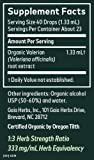 Gaia Herbs, Valerian Root, Sleep Support, Non Habit Forming Herbal Sleep Aid, Melatonin Free, Liquid Herbal Extract, 1 Ounce Bottle, Pack of 2