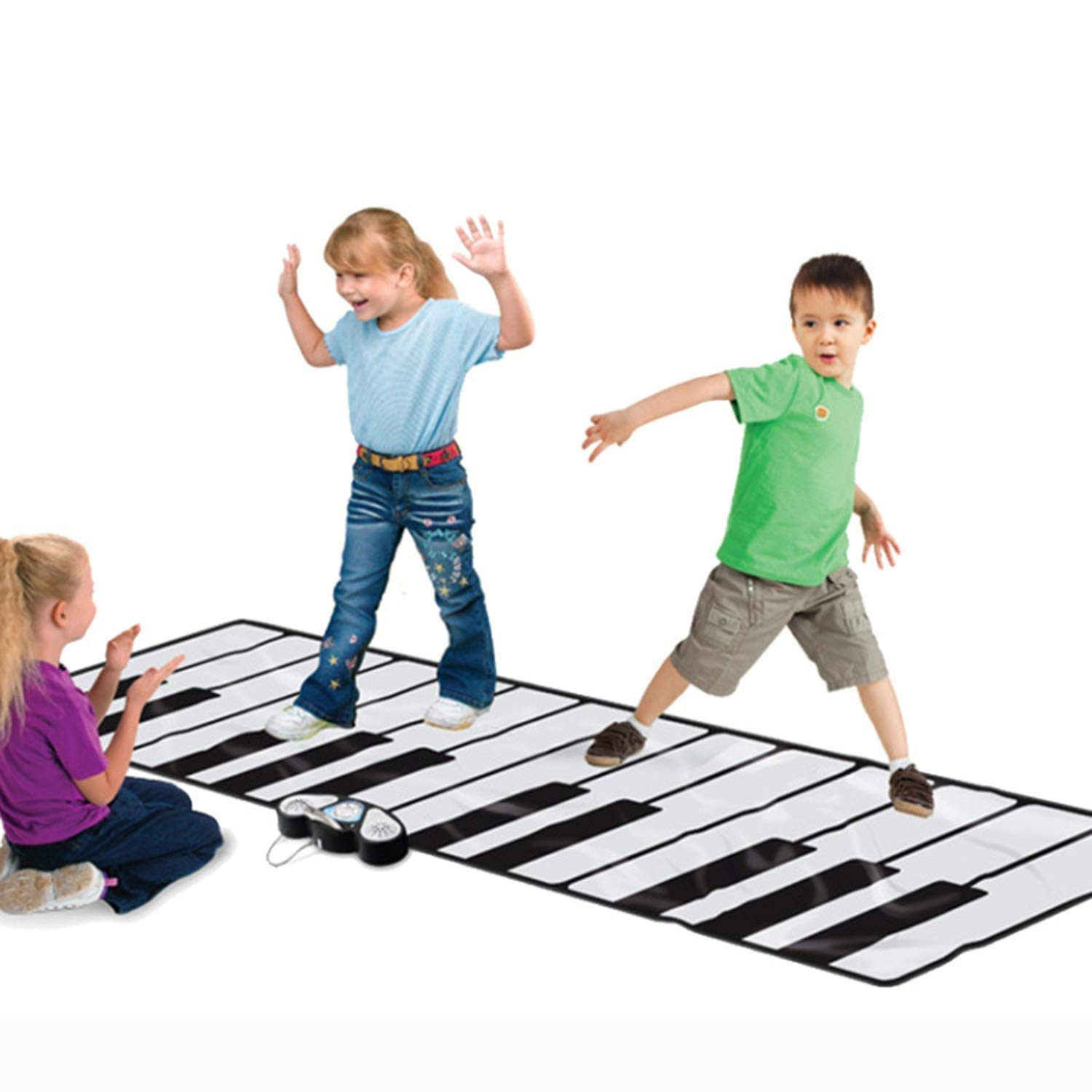 YFQ Children's Early Education Music Mat Crawling Mat Large Pedal Electronic Piano Crawling Blanket Game Pad Early Education Toy Educational Toys by YFQ (Image #1)