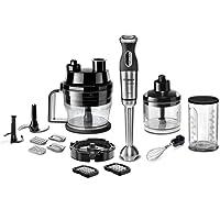 Bosch MSM881X2 - Licuadora manual, 800 W, 12 velodidades, 220-240 V, acero inoxidable, color negro y gris