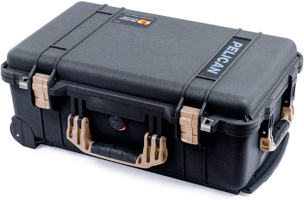 Black /& Tan Pelican 1510 case no Foam//Empty.