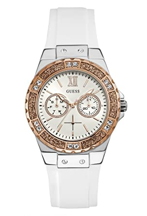 a5a05a5fd Guess Limelight Women's White Dial Rubber Band Watch - W1053L2 ...