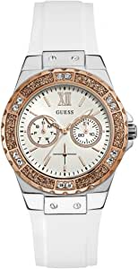 Guess Limelight Women's White Dial Rubber Band Watch - W1053L2
