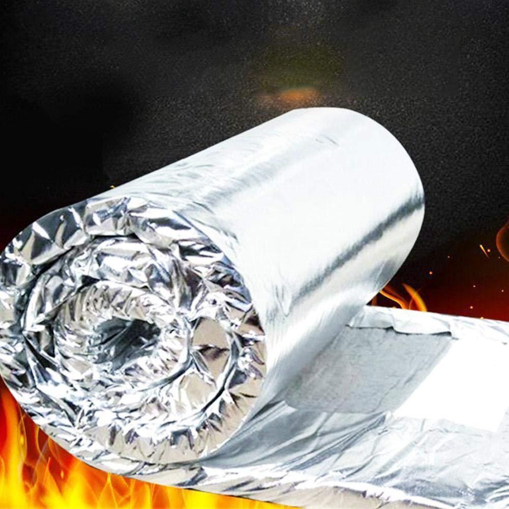 Ceramic Fiber Insulation Blanket Forges /& More Aluminium Foil 2500F Thermal Insulation Fireproof Cotton Blanket Fireproof Mat for Fireplaces,Ovens,Furnaces,Stoves,Kilns