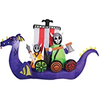 Gemmy Airblown Inflatable 7.5-ft X 12-ft Giant Animated Viking Ship