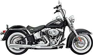 Bassani Xhaust Road Rage 2-Into-1 Exhaust (Chrome/Long) for 88-17 Harley FLSTC
