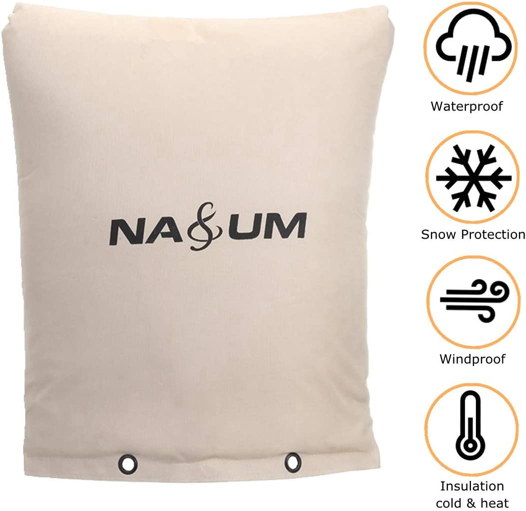 "NASUM Pipe Insulated Pouch, 16"" W x 20"" H Backflow Insulation Cover, Backflow Winter Cover for Outdoor Winter Pipe Freeze Protection, Water Sprinkler Valve Box, Meter, and Controller"