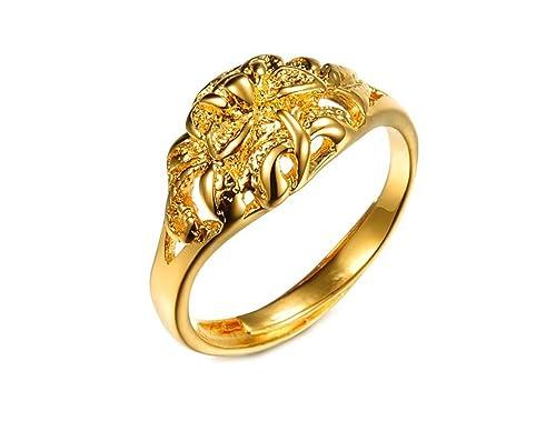 AnaZoz Joyería de Moda 18K Chapado en oro Anillos de Boda Para Mujer Compromiso de Boda