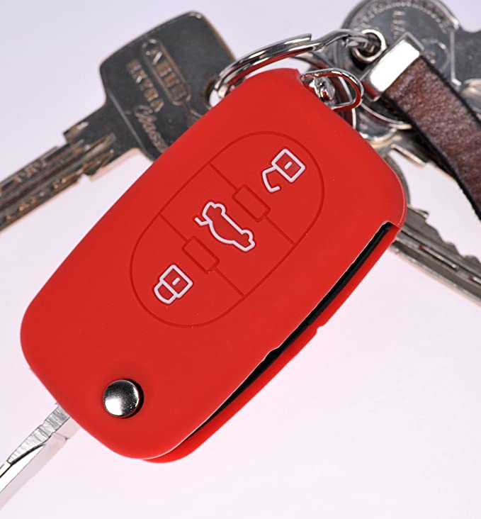 Klapp Schlüssel Hülle Cover Silikon Grün für AUDI A4 B6 A3 8L A6 C5 A2 K
