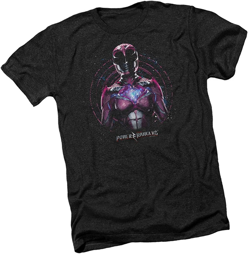 Power Rangers Movie PINK RANGER Licensed Adult Heather T-Shirt All Sizes