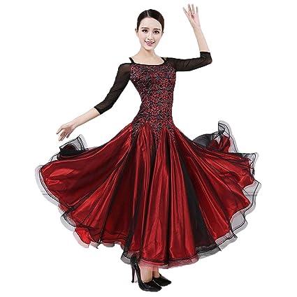 JTSYUXN Salón De Baile Trajes De Danza del Traje De Flamenca Vals ...