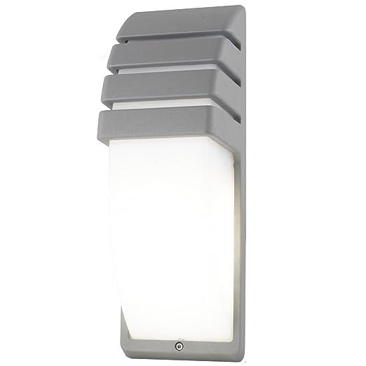Plafoniere Per Esterno A Led.Plafoniera Applique Lampada Led E27 10w A Parete In Alluminio Esterno Ip44 Rgbw Colore Grigio Luce 4000k